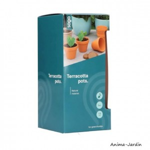 Pots en terre cuite, 7/8cm, 9 pots, jardin, graines, jardinage, culture, achat, vente, pas cher