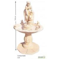 Fontaine Marité ocre en pierre reconstituée, h 195cm Framusa grandon, achat/vente