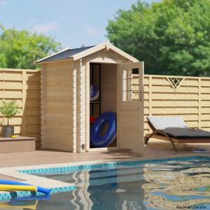Abri de jardin en bois, Huron 2,2m², 19 mm, avec toit en feutre bitumeux, rangement, Forest-Style, achat, pas cher