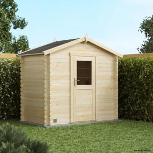 Abri de jardin en bois, Victoria 3,7m², 19 mm, avec toit en feutre bitumeux, rangement, Forest-Style, achat, pas cher