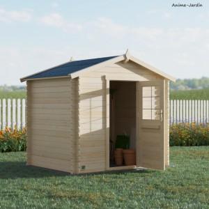 Abri de jardin en bois, Kariba 4,9m², 19 mm, avec toit en feutre bitumeux, rangement, Forest-Style, achat, pas cher
