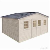 Abri de jardin en bois, Shelty+ 18 m², 28 mm, avec toit en acier galvanisé, rangement, Forest-Style, achat, pas cher