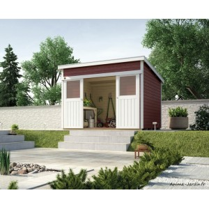 Abri de jardin en bois, 225, parois 21mm, avec porte coulissante, Weka, achat, pas cher