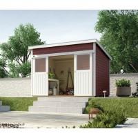 Abri de jardin en bois, 225, 8,7 m², parois 21mm, avec porte coulissante, Weka, achat, pas cher