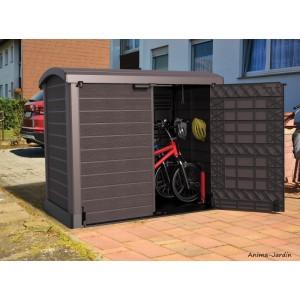 Coffre de rangement multifonction 1200 L, abri vélo, cache-poubelles, Duramax, résine, coffre de jardin, BGS, achat, pas cher