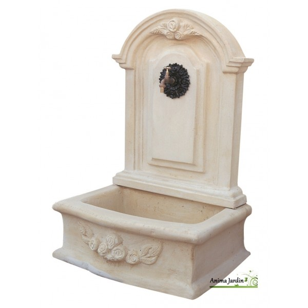 fontaine murale romantique gm en pierre reconstitu e 119 cm de haut ton vieilli achat vente. Black Bedroom Furniture Sets. Home Design Ideas