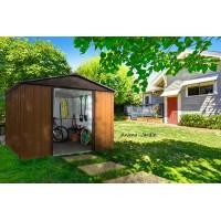 Abri métal 5,11m² , imitation bois, abri de jardin, métal galvanisé, Trigano, achat, pas cher