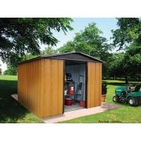 Abri métal 6,24 m² , imitation bois, abri de jardin, métal galvanisé, Trigano, achat, pas cher