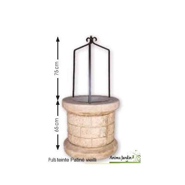 Puits en pierre reconstitu e puits de jardin 70 cm for Puits decoration jardin