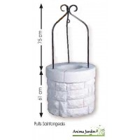 puits en pierre reconstitu e anima jardin. Black Bedroom Furniture Sets. Home Design Ideas