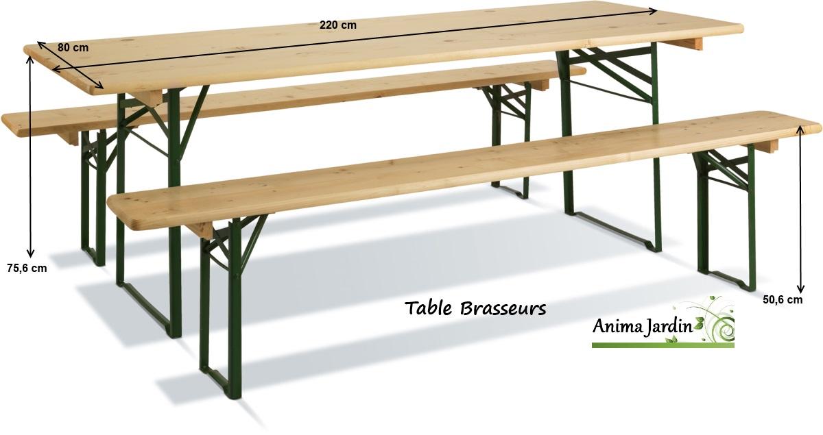 Table réception-brasseurs-220cm