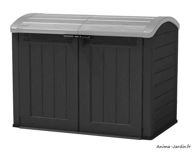 Coffre de rangement extérieur-résine-2000L-multifonctions-Ultra Woodland-protection-rangement jardin-Anima-Jardin.fr