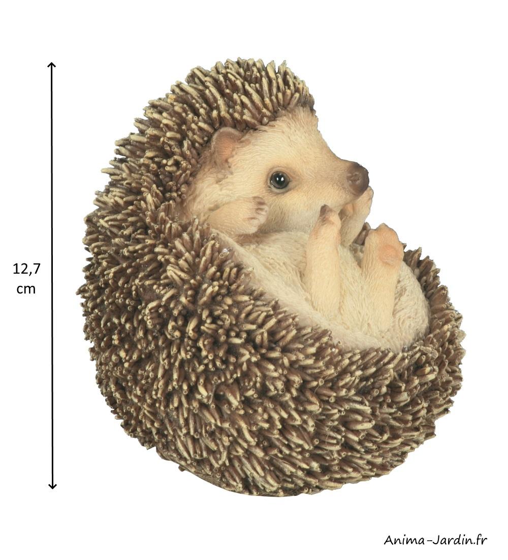 Lot de 2 bébés hérissons en boule, animal en résine, décoration du jardin, Riviera, achat, vente, pas cher