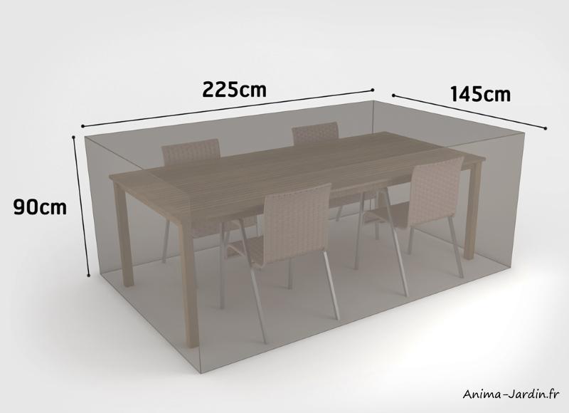 Housse de qualité pour salon de jardin-225 x 145 cm- housse étanche-Nortene-pas cher-achat-Anima-Jardin.fr