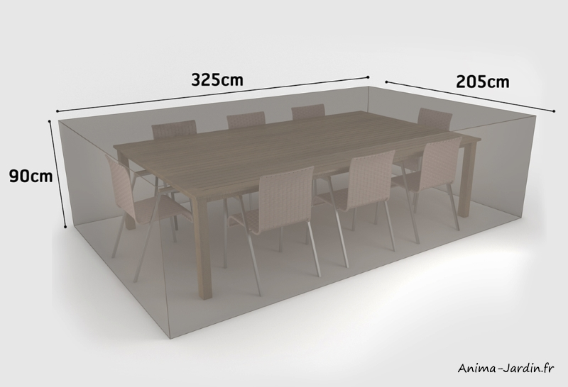 Housse de qualité pour salon de jardin-325 x 205 cm-housse étanche-Nortene-achat-pas cher-Anima-Jardin.fr