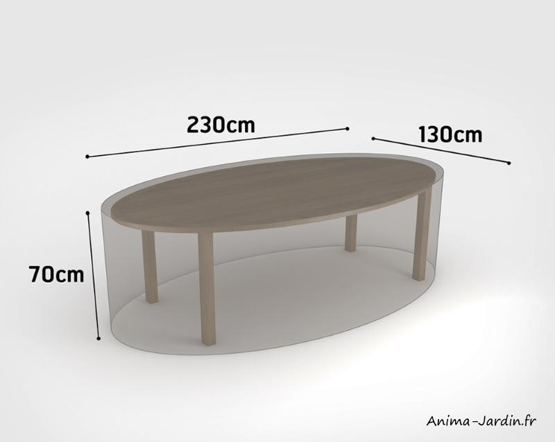 Housse de qualité pour table de jardin ovale-230 x 130 cm-housse étanche-Nortène-pas cher-Anima-Jardin.fr