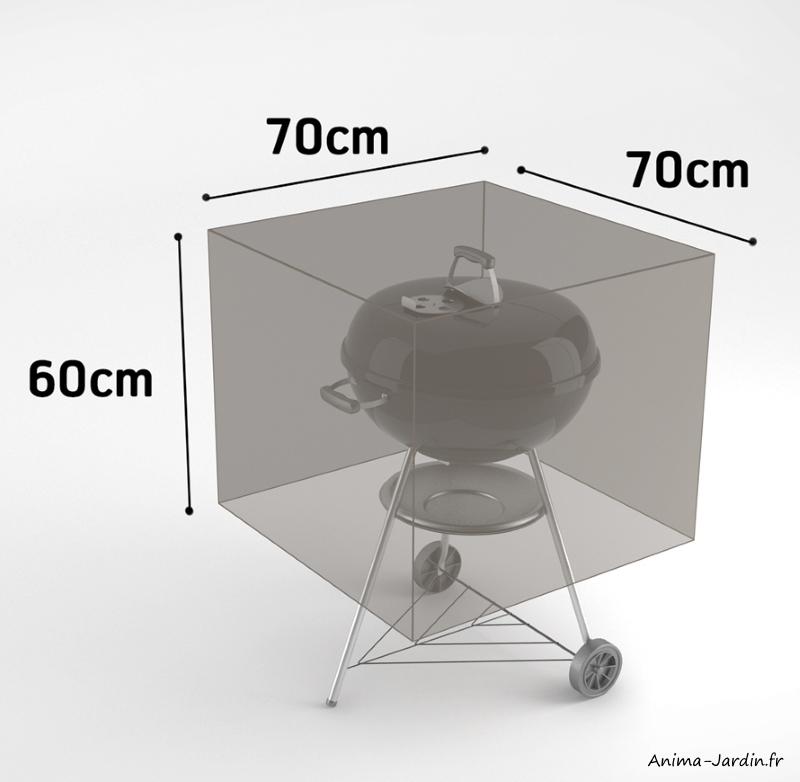 Housse de qualiré pour barbecue-70x70 cm-housse étanche-Nortene-pas cher-achat-Anima-Jardin.fr