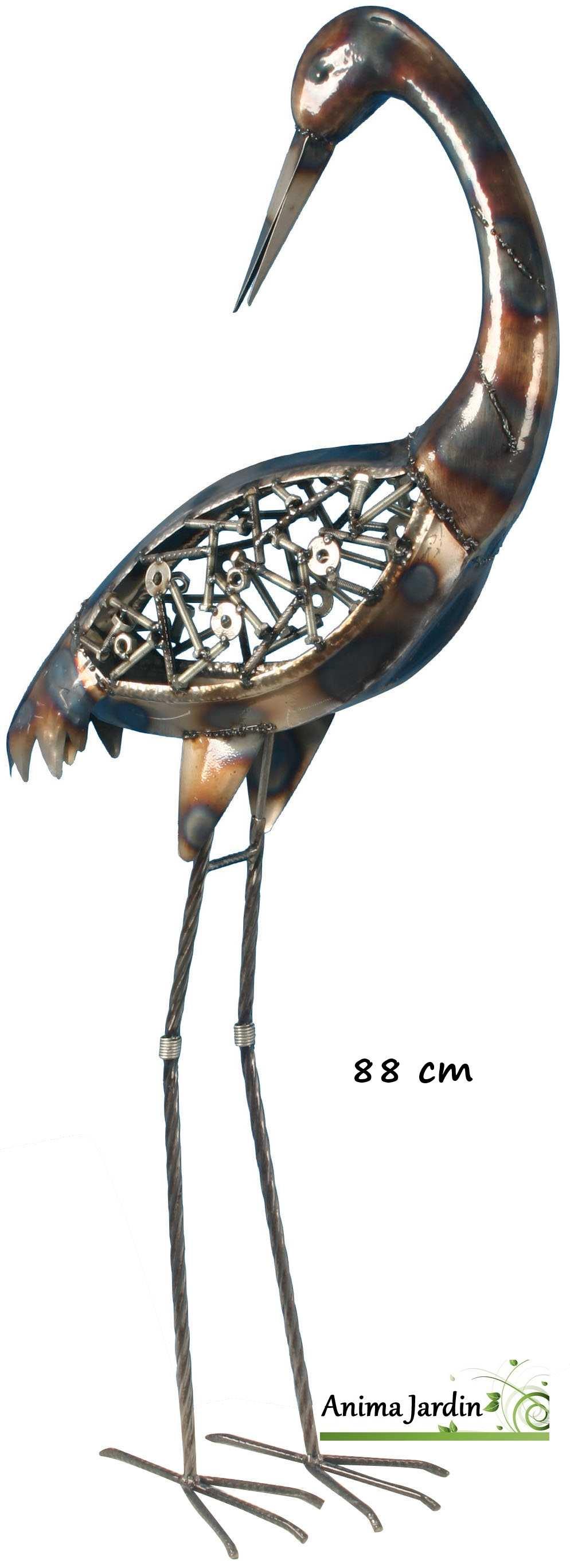 Héron-boulon-88cm-métal-anima-jardin.fr