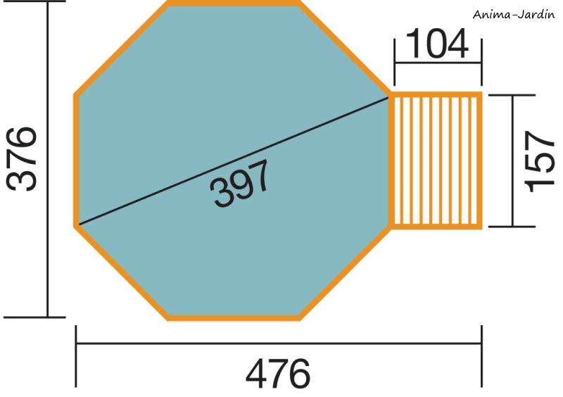 Piscine en bois, Ø397 cm x H.116 cm, bois massif, qualité, Weka, achat, pas cher