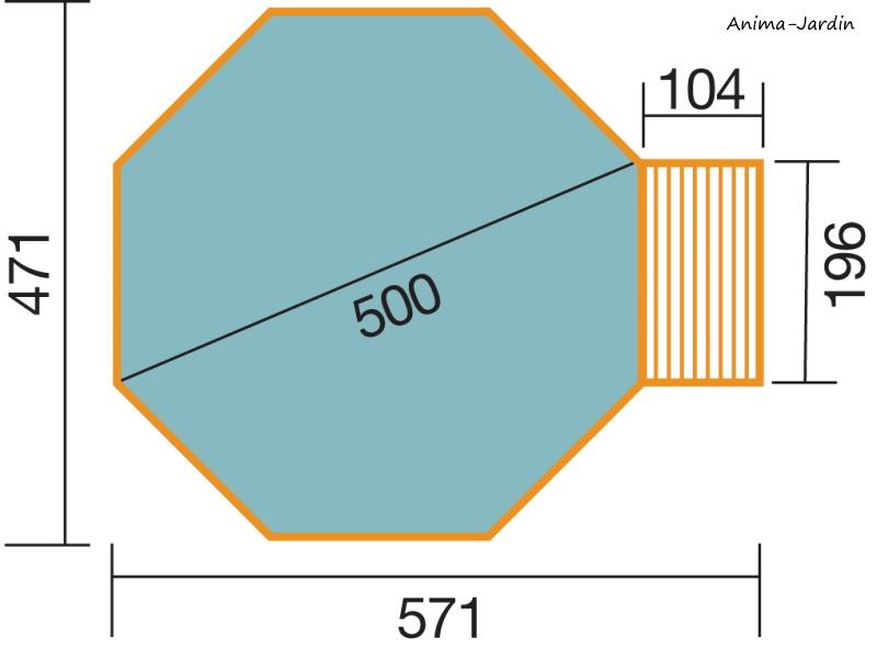 Piscine en bois, Ø500 cm x H.116 cm, bois massif, avec échelle, local technique, qualité, Weka, achat, pas cher