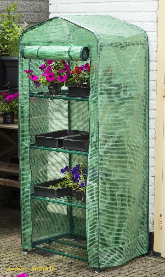 Petite serre de jardin et balcon-souple-housse renforcée-protection froid-Nature Jardin-Anima-Jardin.fr