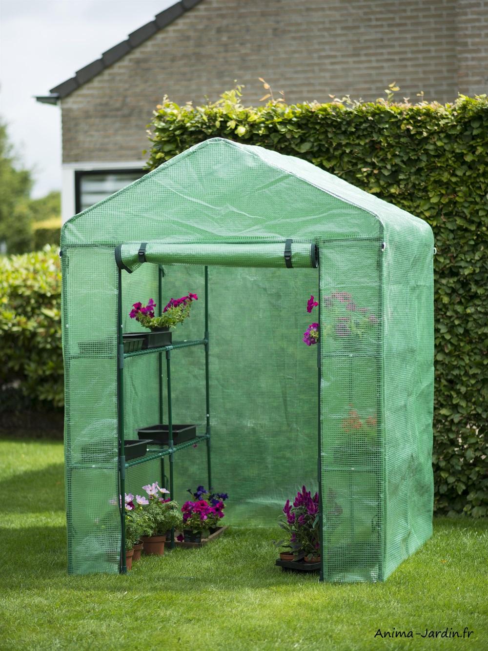 Serre de jardin souple-2m²-étagères-housse renforcée-Nature Jardin-Anima-Jardin.fr