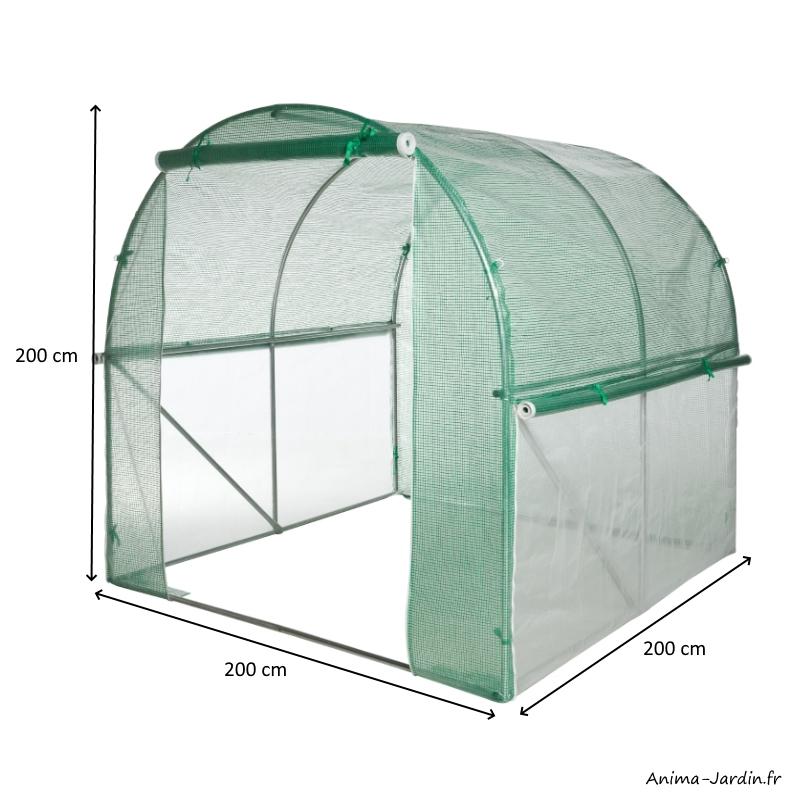 Serre tunnel maraîcher-4m²-housse renforcée-serre de jardin-protection froid-potager-pas cher-Nature Jardin-achat-Anima-Jardin.fr