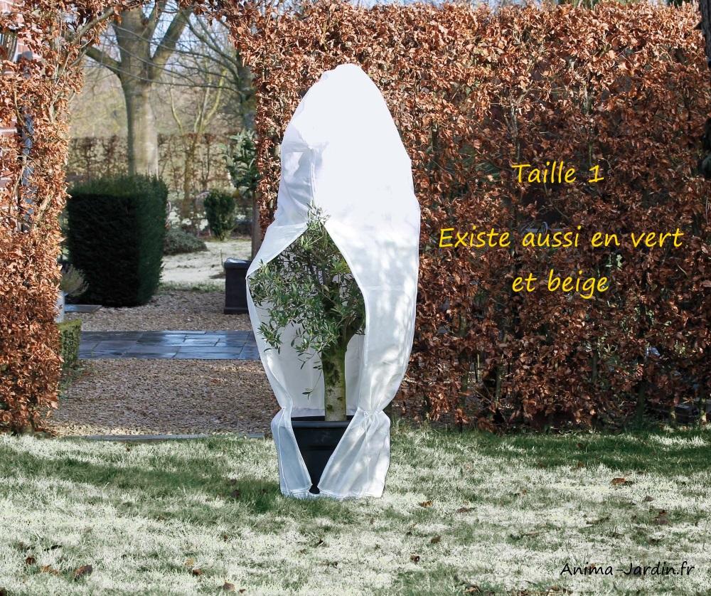 Grande housse d'hivernage zippée-70g/m²-protection froid-plantes-Nature-Anima-Jardin.fr