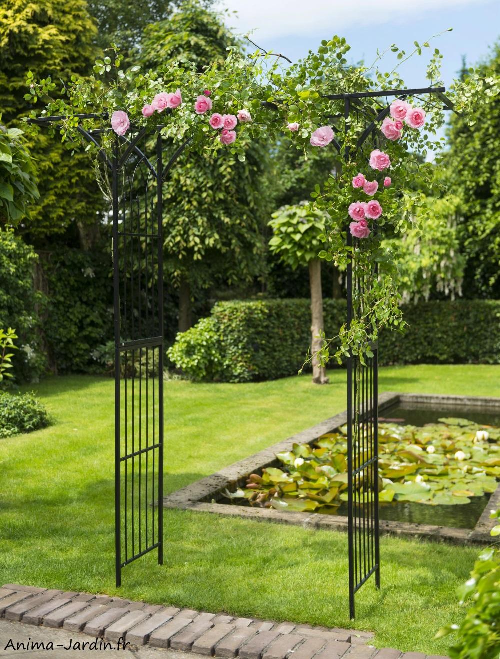 Allée Voiture Pas Cher pergola double droite, acier, décoration du jardin, allée