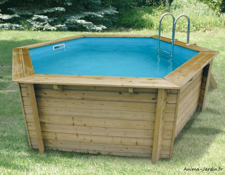 Piscine Azura 410-H120 cm-entourage bois-Ubbink-piscine de qualité-Anima-Jardin.fr