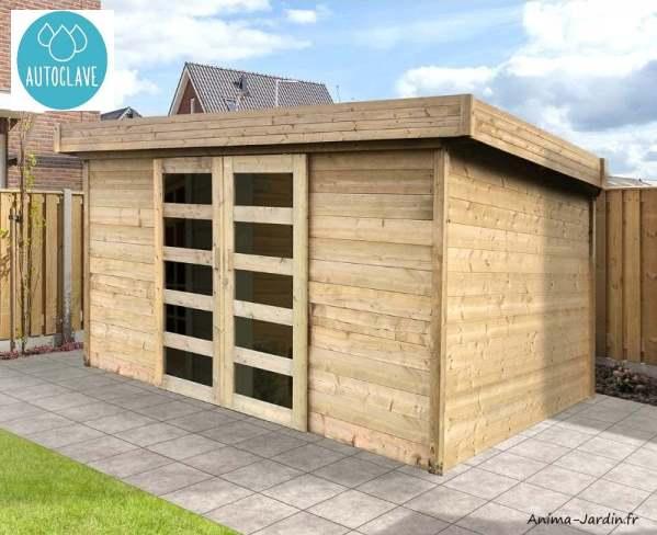 Chalet de jardin-28mm-11,38m²-moderne-autoclave-toit plat-Solid-Malmo-Anima-Jardin.fr