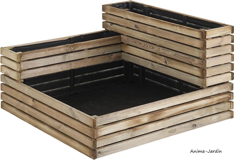 Carré potager de 91.5 cm en bois autoclave, Kub, Burger, carré potager, fruits, légumes, aromates, pas cher, achat
