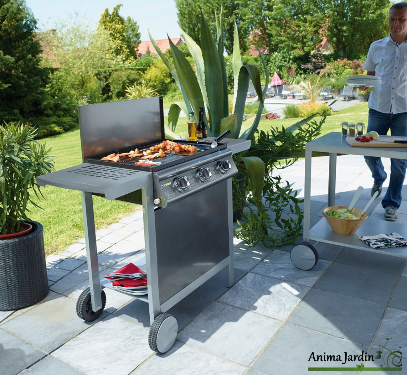 Barbecue-Puerta Luna-Barbecue gaz-Barbecue australien-Anima-Jardin.fr