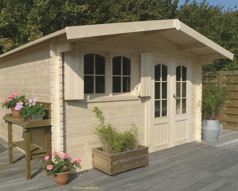Abri De Jardin Habitable abri de jardin en bois 40mm, rignitz, 2 portes, solid, pas