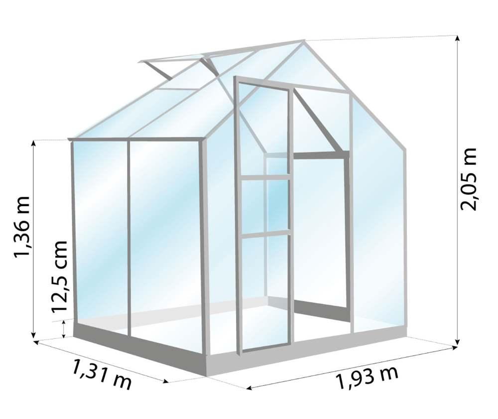 Serre de jardin-Allium 2500-Lams-dimensions-Anima-Jardin.fr