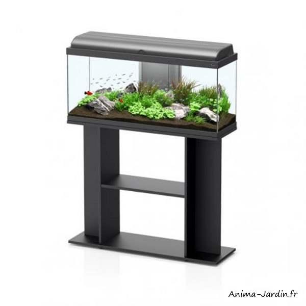Aquarium-Kit Aquadream 100-capacité 100L-avec éclairage et filtre-Aquatlantis-avec meuble-Anima-Jardin.fr