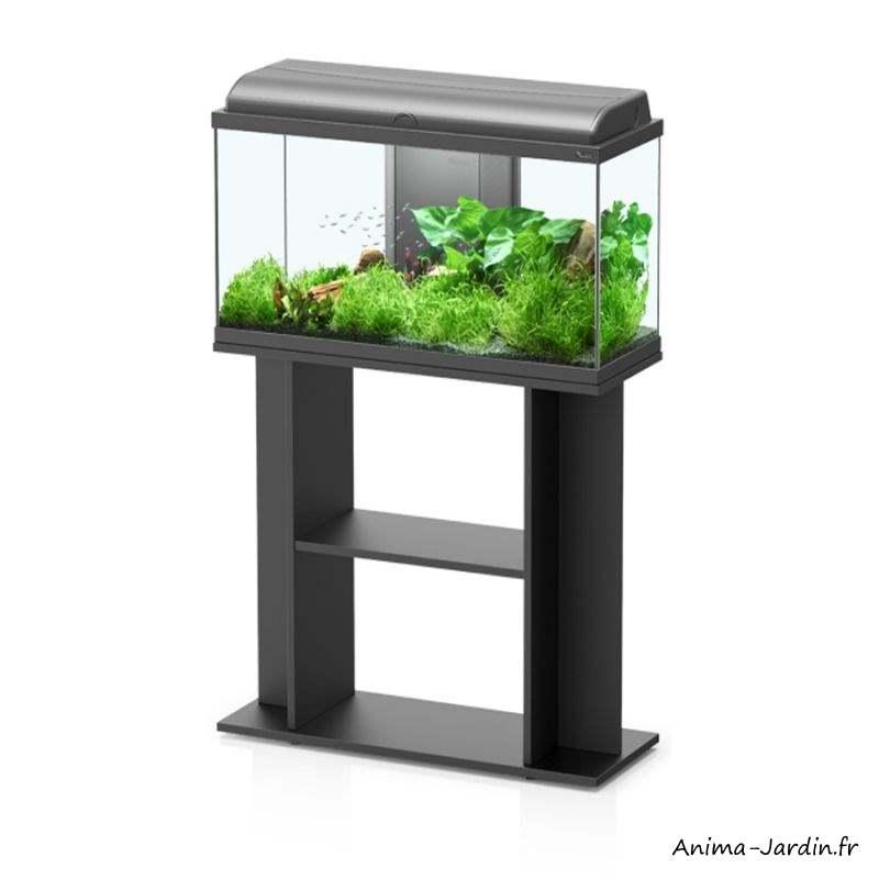 Aquarium-kit Aquadream 80-capacité 79 L-inclus éclairage et filtre-Aquatlantis-avec meuble-Anima-Jardin.fr