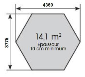 Plan dalle de béton-Azura 410-Ubbink-Anima-Jardin.fr