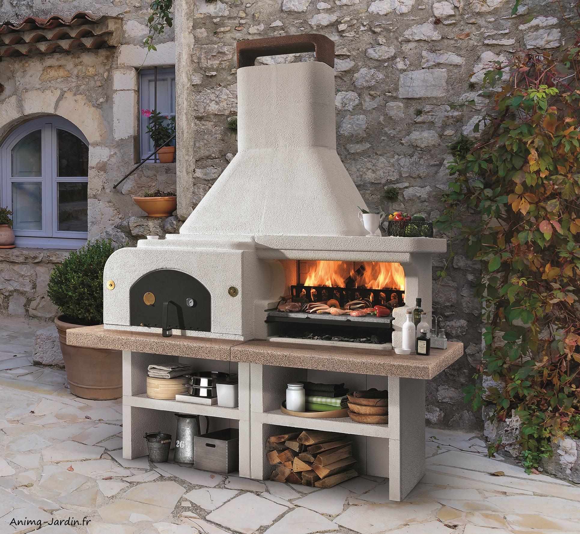 Barbecue en pierre-four-Gargano 3-marmotech-charbon de bois-Palazzetti-Anima-Jardin.fr