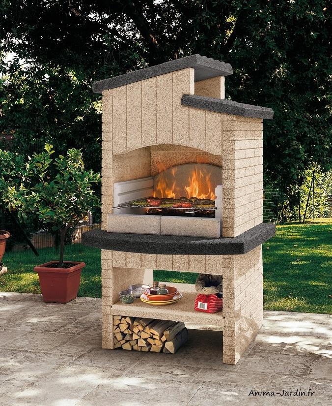 Barbecue en pierre-Marettimo New B-marmotech-charbon de bois-Palazzetti-barbecue de qualité-Anima-Jardin.fr