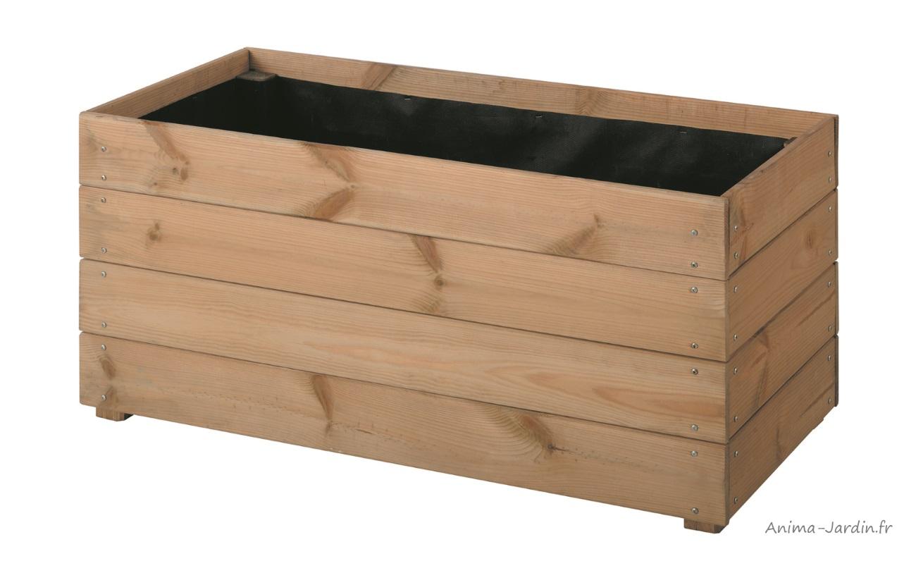 bac-essencia-80cm-bois-autoclave-bac à fleurs-anima-jardin.fr
