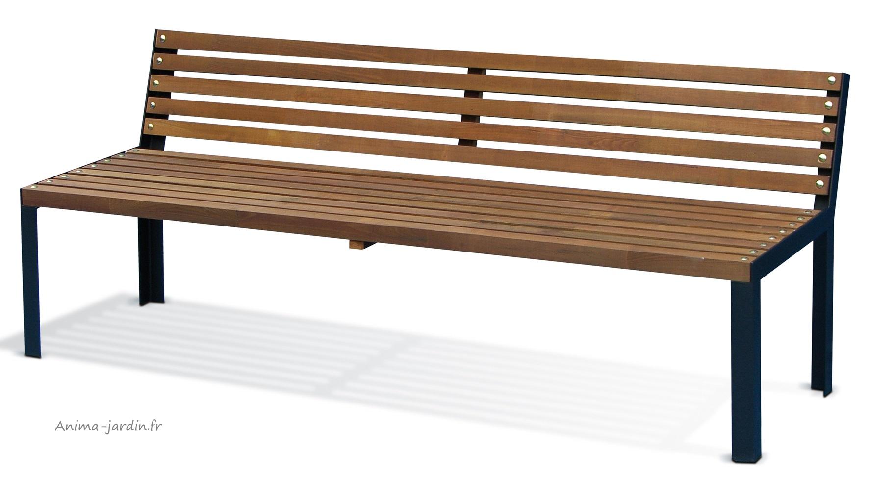 Banc en bois avec dossier, 190 cm, jardin, autoclave, achat, pas cher
