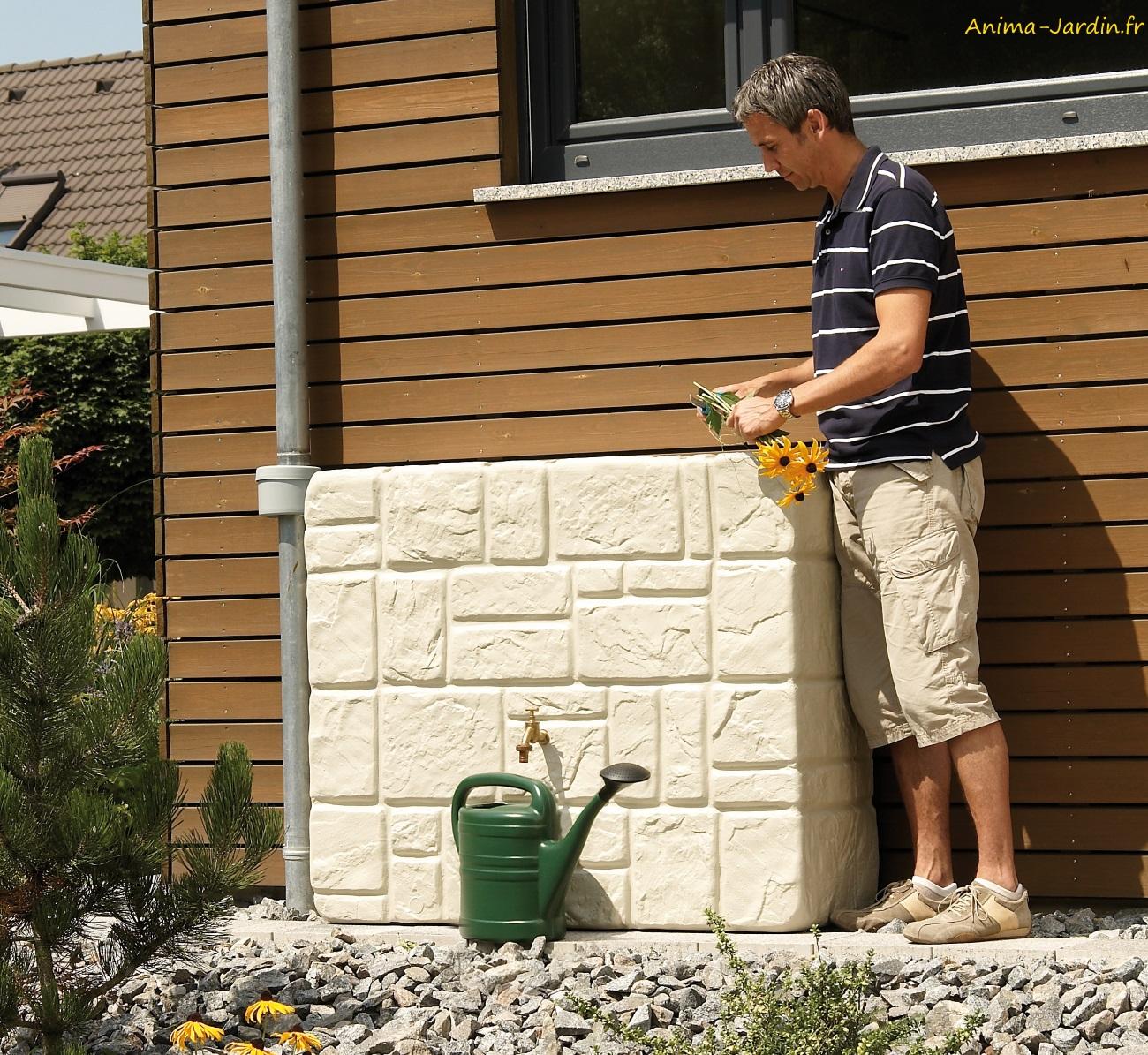 Kit Brick murale-Récupérateur d'eau-eau de pluie-Graf-Anima-Jardin.fr