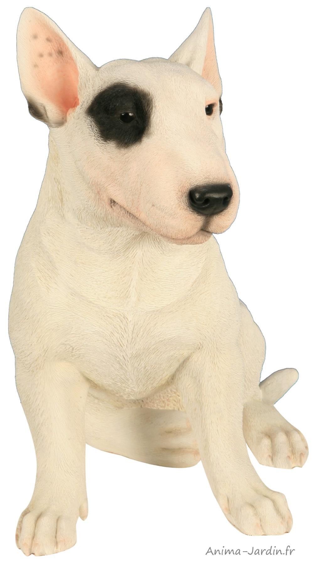 Bull Terrier-40cm-résine-chien-animal-décoration