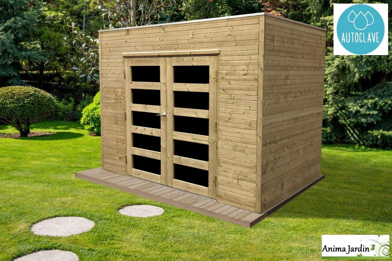 Abri De Jardin En Bois A Monter Soi Meme abri de jardin en bois autoclave 19mm, capri, 5m², toit plat