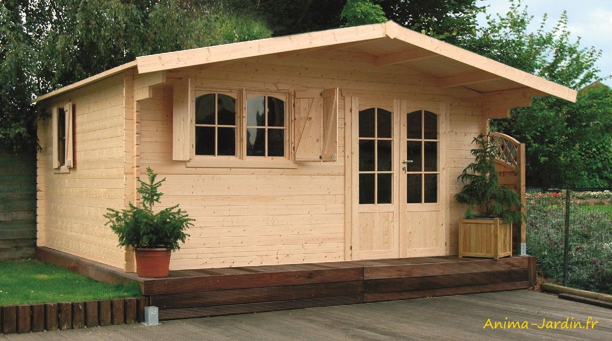 Grande Cabane De Jardin Pas Cher grand abri de jardin en bois 40mm, habitable, chamonix, 18m²