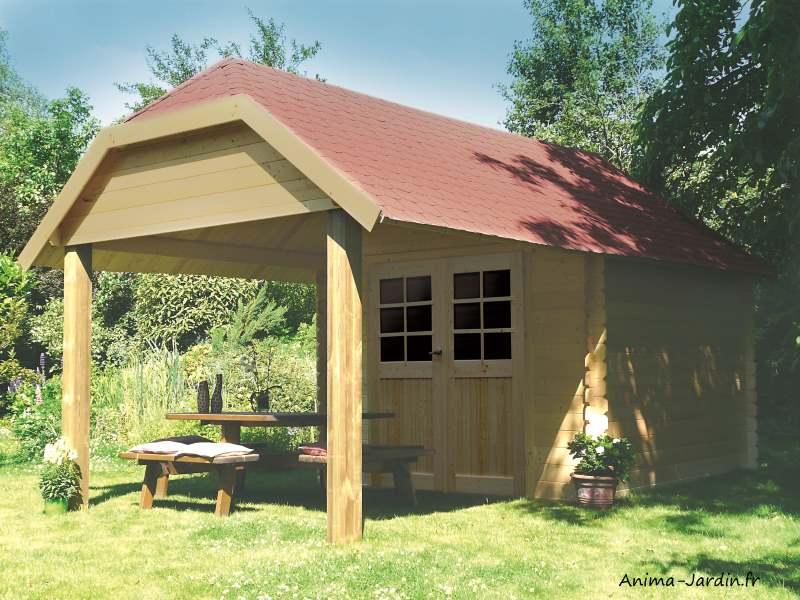 Abri de jardin en bois 28 mm, Cork, 8 m², 2 portes, Solid, pas cher, achat, vente