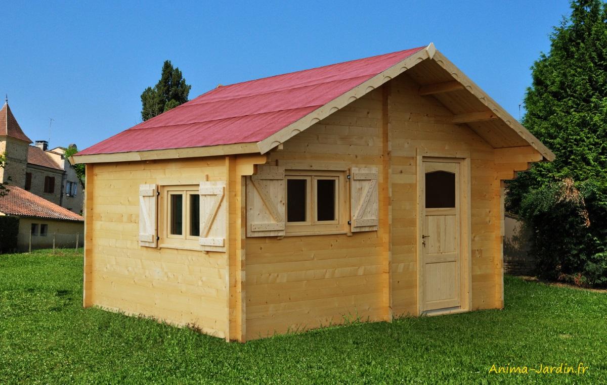 Abri de jardin-grande superficie-60mm-habitable-24,96m²-Foresta-Anima-Jardin.fr