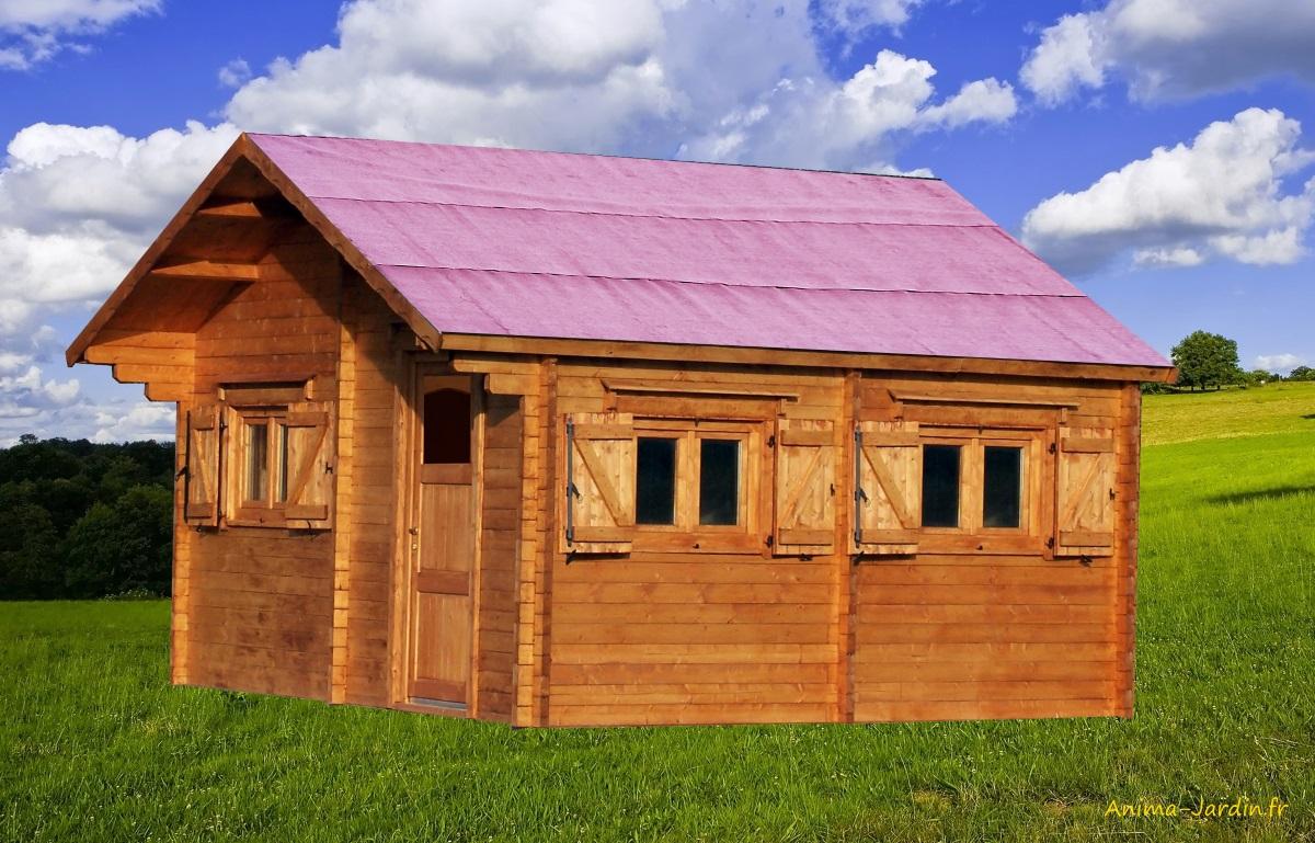 Abri De Jardin Habitable grand abri de jardin en bois, grosse épaisseur de parois