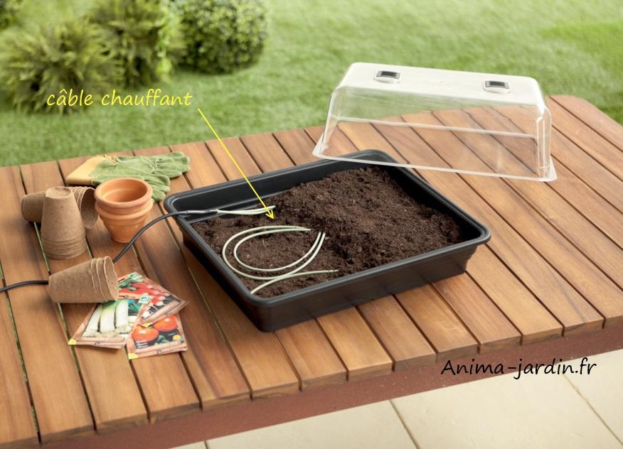 Cordon chauffant pour semis, chauffage mini serre, auto régulé, heating